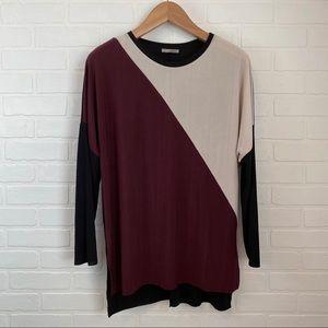 Zara W/B Collection Drop Shoulder Top
